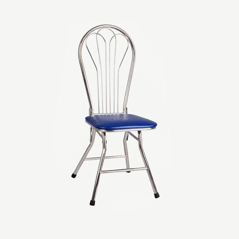 Ghế inox tựa mặt đệm gấp | Ghế inox 3 lá